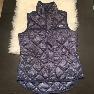 Like new Columbia insulated vest, navy/white Small